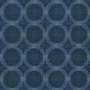 Printed Curtains - Logic Blue