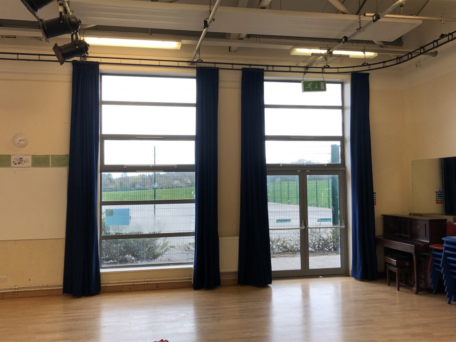 School Hall Curtains - Great Missenden->title 2