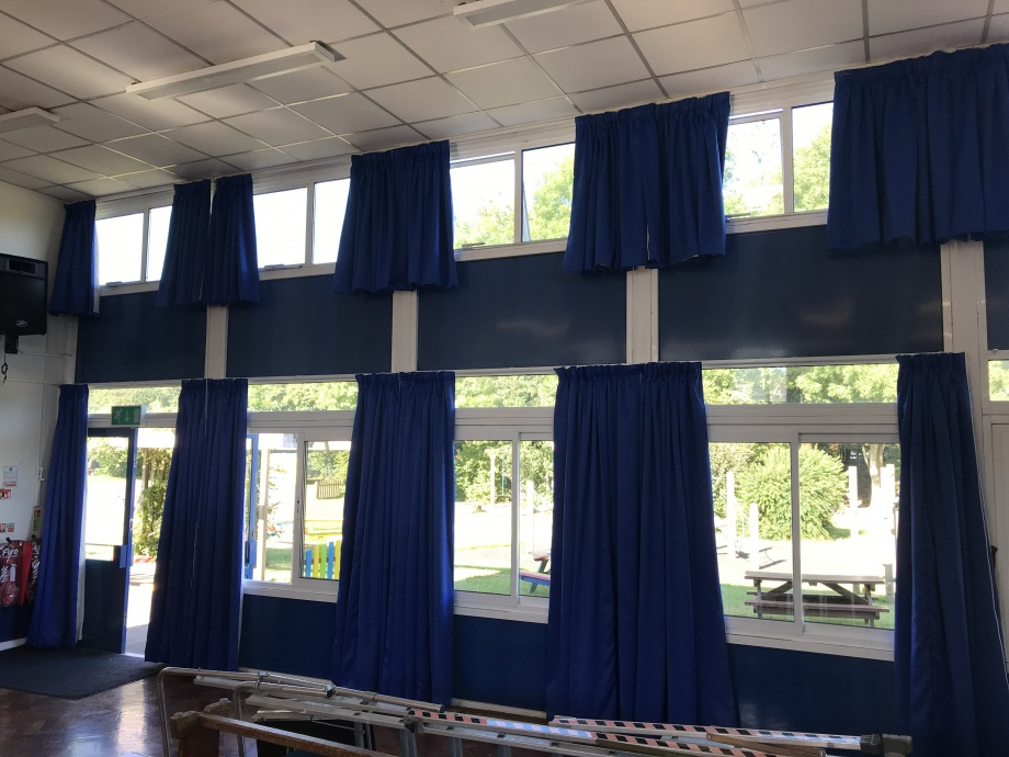 Junior School Hall Curtains - Hampshire->title 1