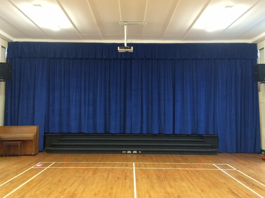 Stage Curtains 2 - Nothstead Primiary school, February 2016