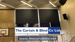 Motorised School Hall Blinds - Slough