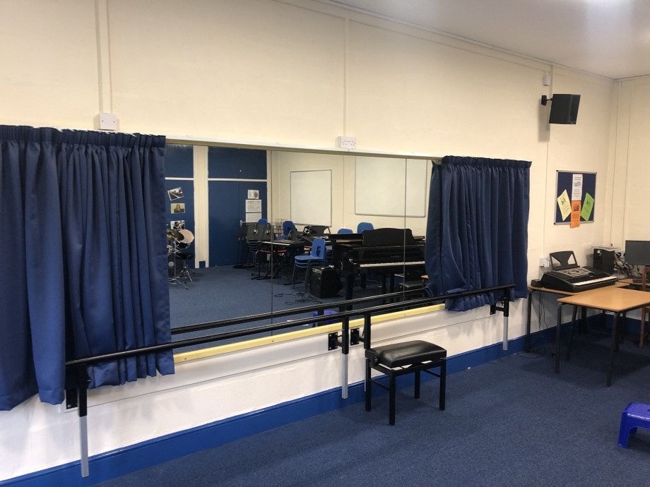 Performing Arts Room Curtains - Cannock->title 1