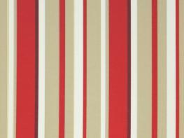 Printed Curtains - Fiesta Red Beige