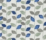 Printed Curtains - Zenith Cobalt