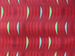 Printed Curtains - Salsa Red