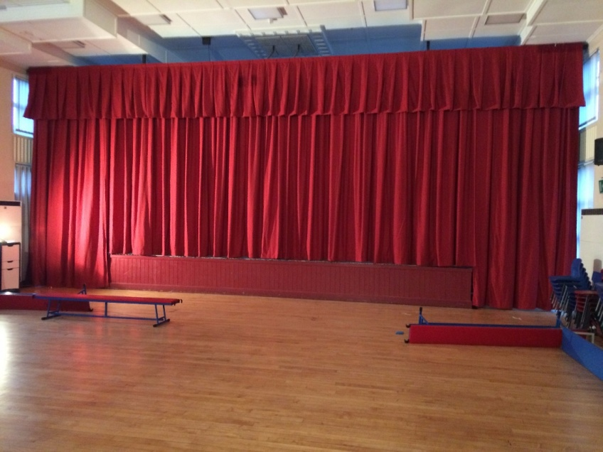 Stage Curtains 2 - Darran Park Primary school, Ferndale
