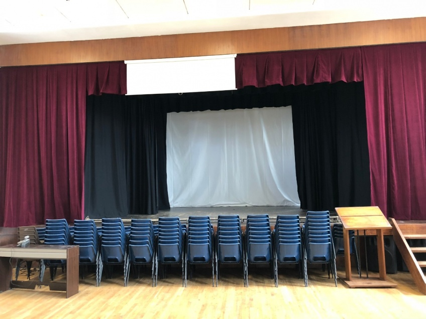 School Hall & Stage Curtains - Nuneaton - Hall Stage - after