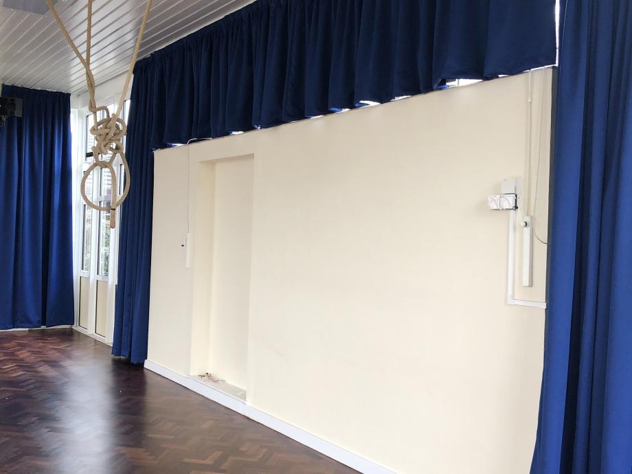 Junior School Hall Curtains - Chesham->title 1