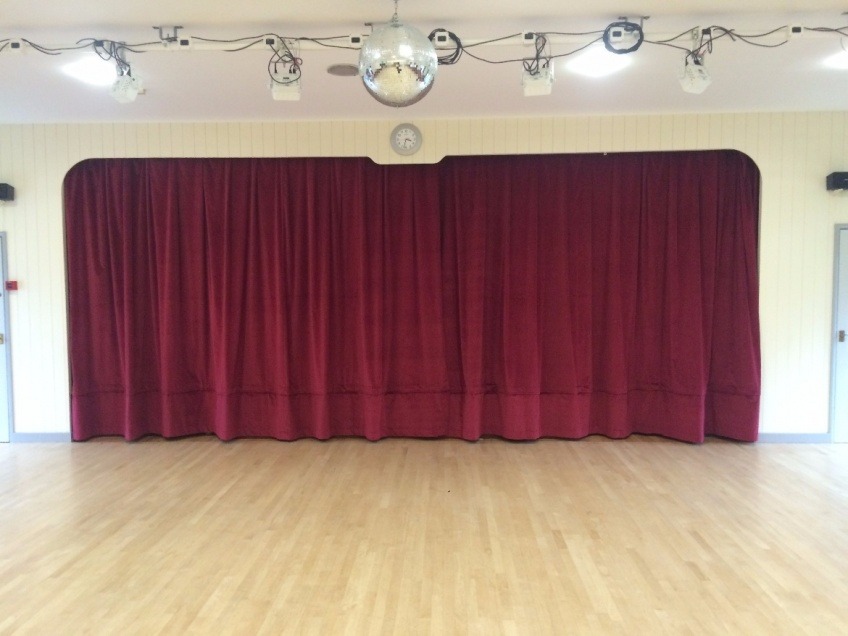 Stage Curtains 2 - Clarborough Village Hall, Retford February 2016