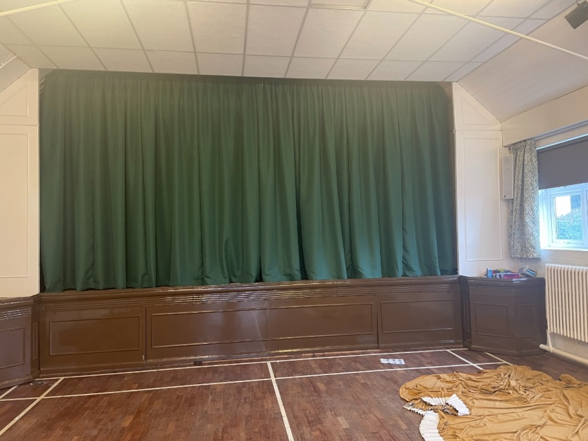 Village Hall Curtains & Blinds - Dorking - New Stage Curtains
