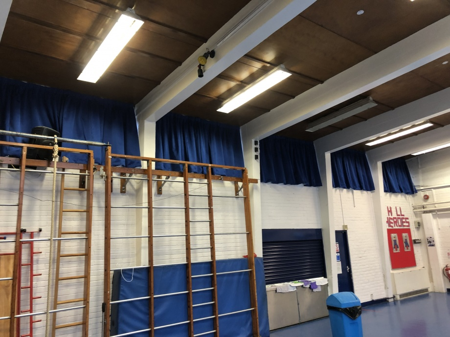 Primary School Hall Curtains - London->title 1