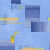 Printed Curtains - Empire Blue