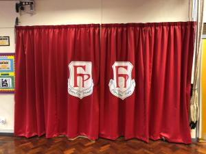 School Logo Curtains - Tamworth