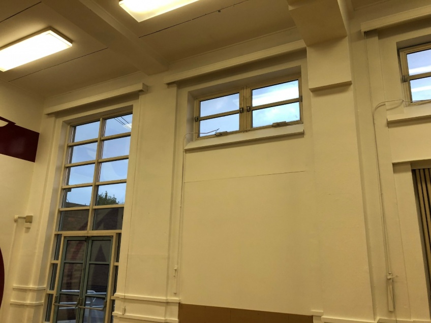 School Hall & Stage Curtains - Nuneaton - Before