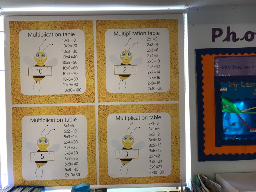 Educational Blinds for Primary Schools - English, Mathematics, Geography Blinds -