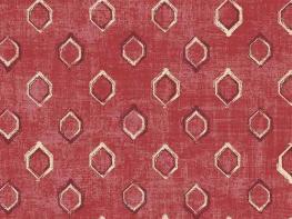 Printed Curtains - Verse Claret