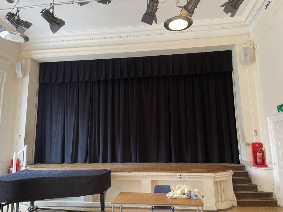 School Stage Curtains - London->title 1