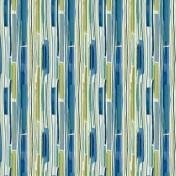 Printed Curtains - Sketch Island Blue