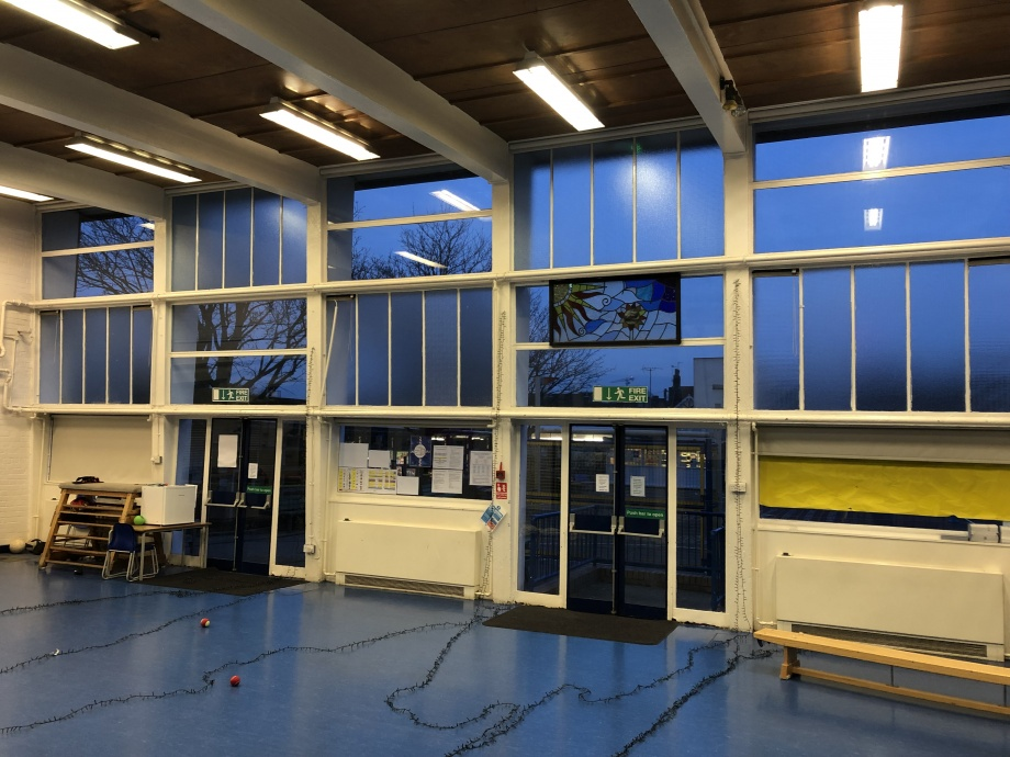 Primary School Hall Curtains - London->title 2