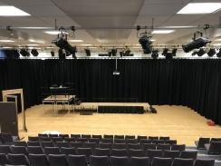 New School Hall Backdrop for Performances and Presentations