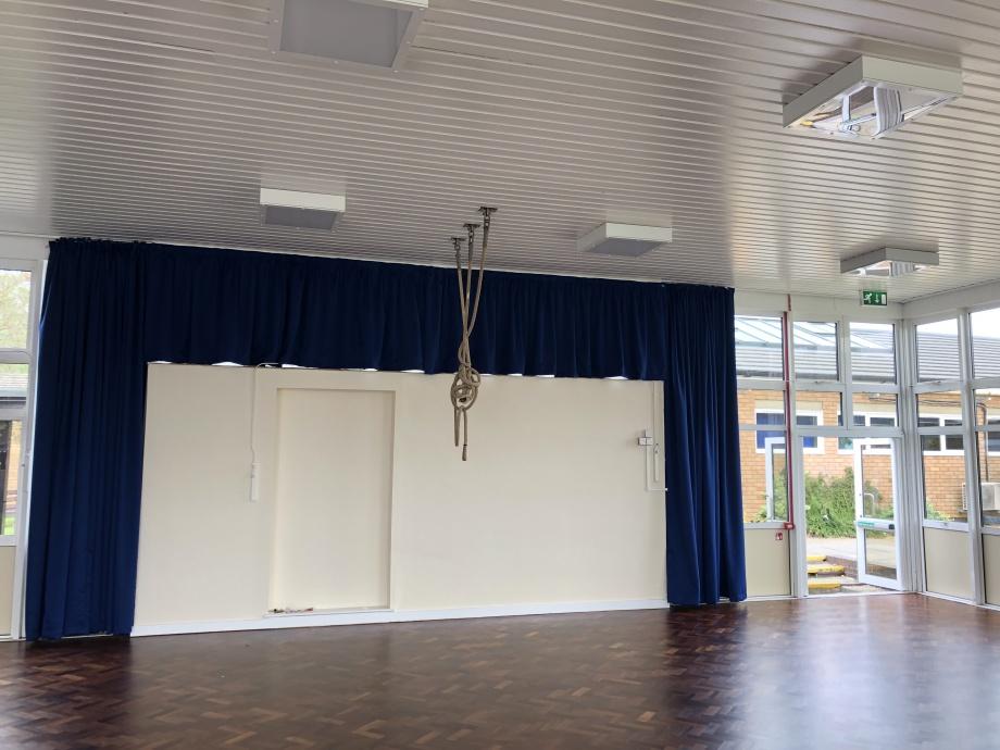 Junior School Hall Curtains - Chesham->title 3
