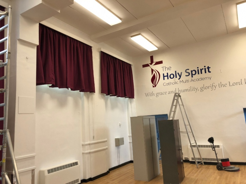 School Hall & Stage Curtains - Nuneaton - After