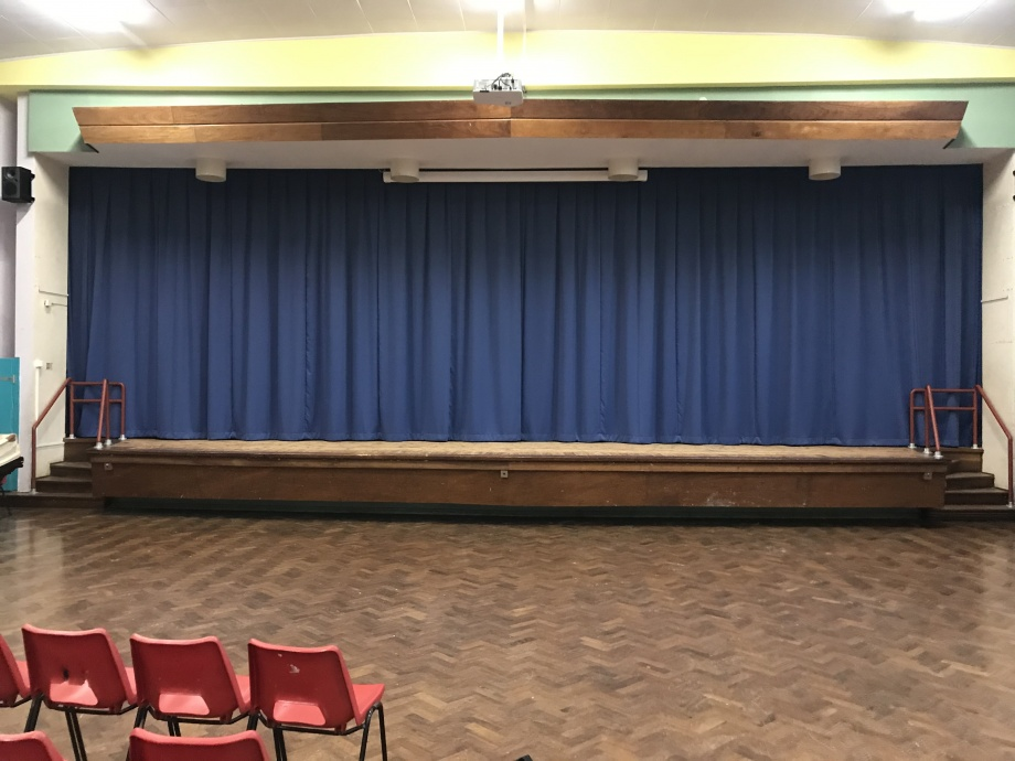 School Stage Curtains - Tenby->title 1