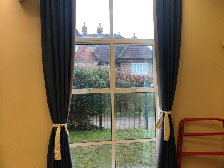 Primary School Hall Curtains - Dorking->title 1