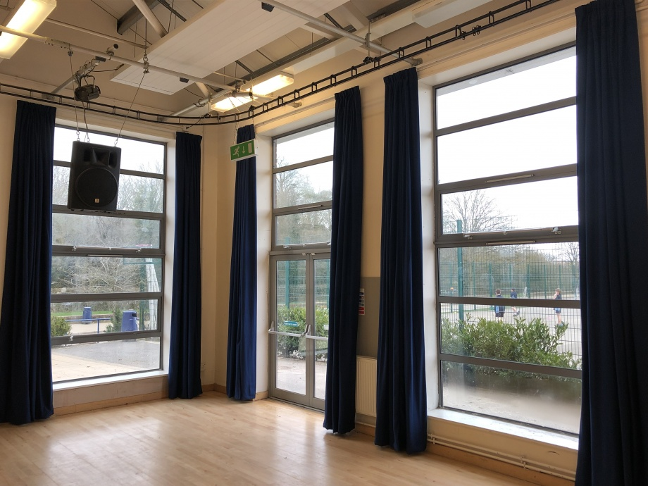 School Hall Curtains - Great Missenden->title 1