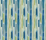 Printed Curtains - Sketch Island Blue