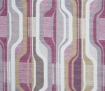 Printed Curtains - Balance Raspberry-Fig
