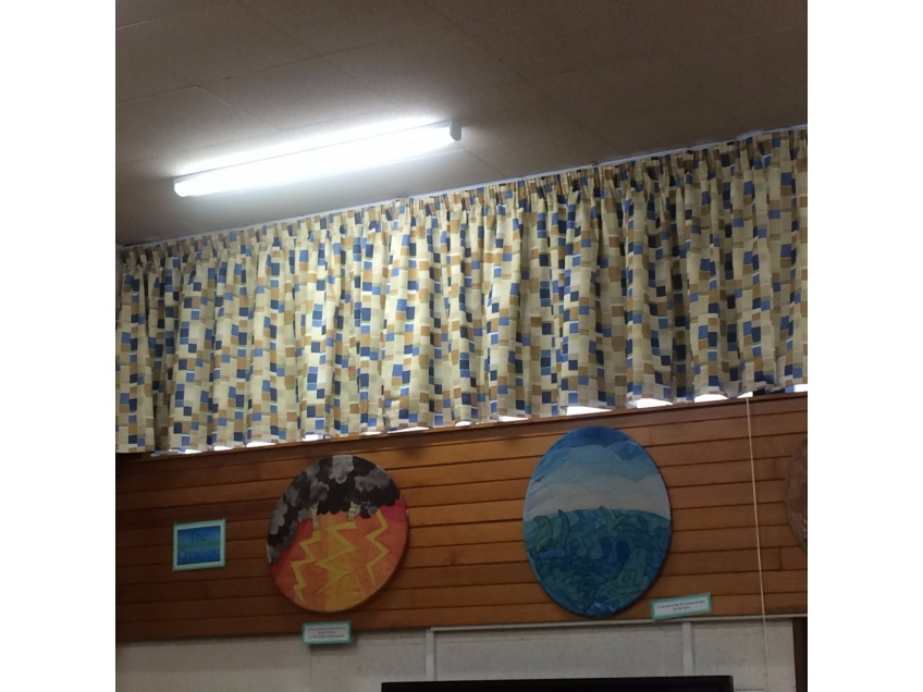 Curtains Gallery 5 - Highnam C.E. Primary Academy in Highnam Gloucestershire Aug 2016