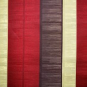 Printed Curtains - Tango Stripe Red Beige