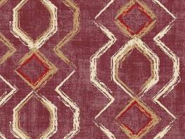 Printed Curtains - Vitality Burgundy