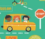 Children's Stop Look and Listen range - Emerald Green