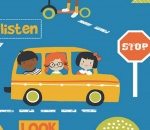 Children's Stop Look and Listen range - Blue