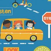 Children's Stop Look and Listen range - Blue