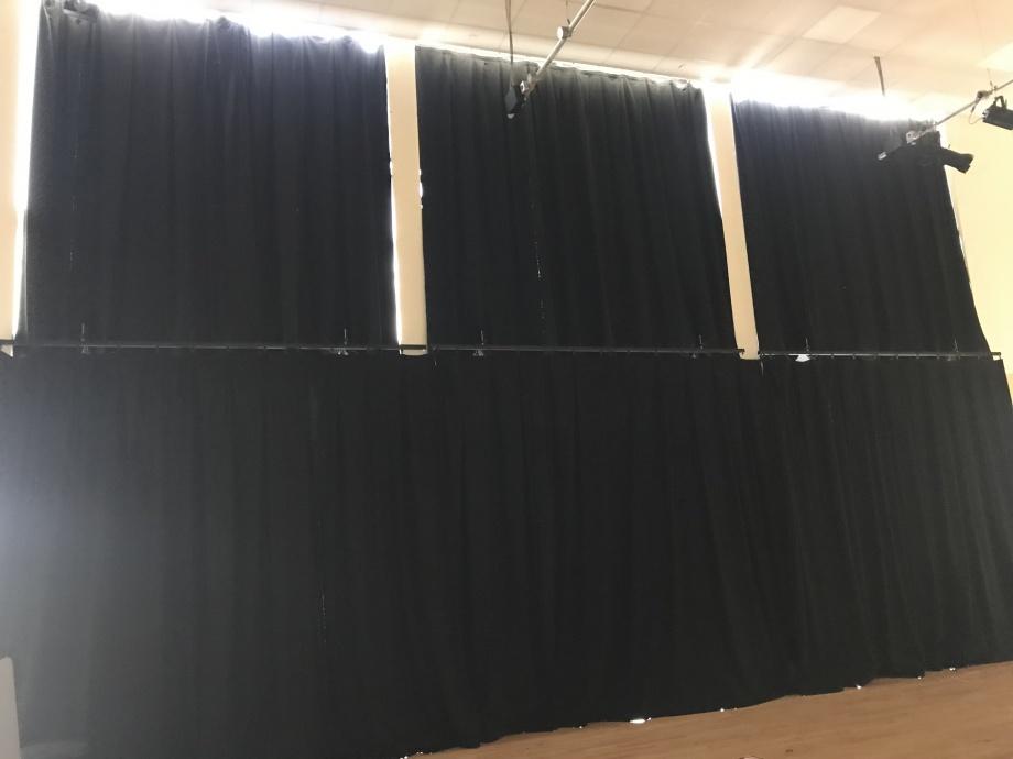 School Hall Curtains - Leeds->title 2