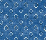 Printed Curtains - Verse Cobalt