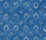 Printed Curtains - Verse Cobalt