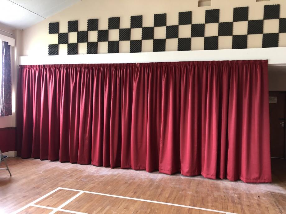 Holme on Spalding Moor Village Hall Curtains->title 1