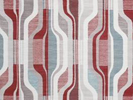 Printed Curtains - Balance Red-Mink