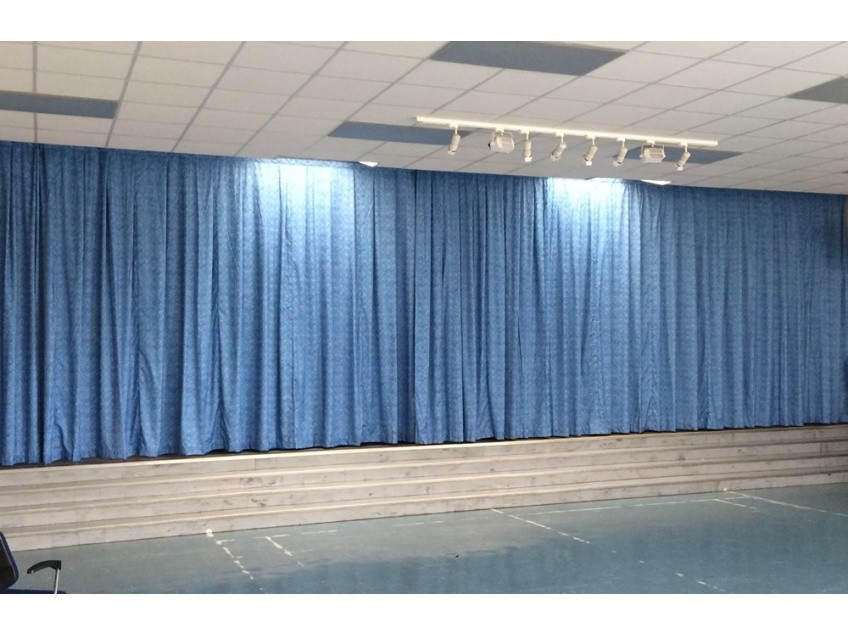Stage Curtains 2 - Down Hall Primary school, Rayleigh, Essex