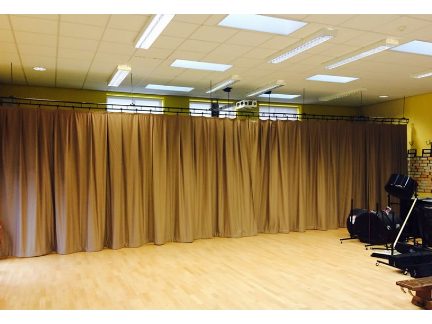 Stage Curtains 2 - Belmont Castle Academy, Essex