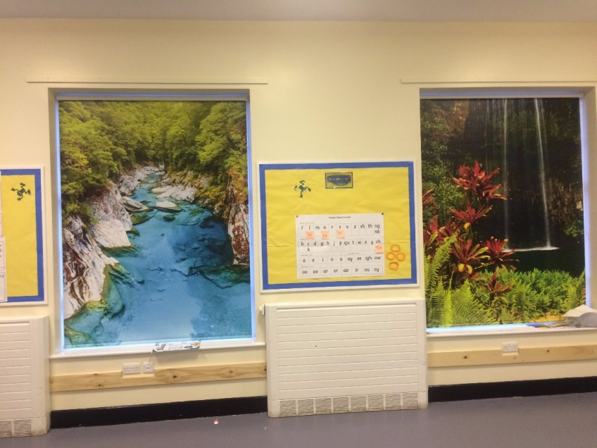 Jungle blinds for schools -