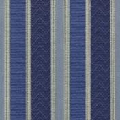 Printed Curtains - Nobel Stripe  Blue