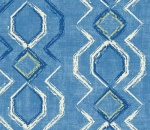 Printed Curtains - Vitality Island Blue