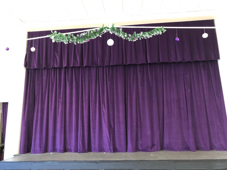 Community Hall Curtains - Hucknall->title 2