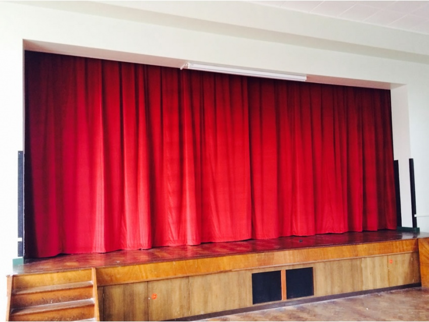 Stage Curtains 2 - Cardinal Griffin Catholic High school, Cannock