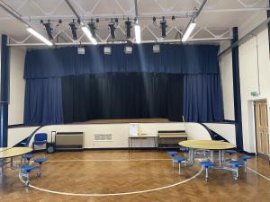 School Hall Stage Curtains - Cumbria